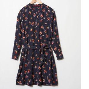 Comptoir de Cotonniers Navy Floral Midi Dress L